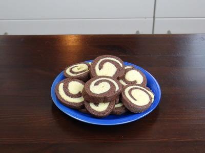 DIY Kekse backen Schwarz. Weiß Kekse selber machen. Kekse mit Schneckemuster | deutsch