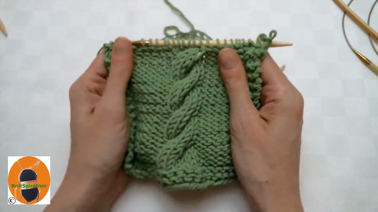 Stricken wir! Muster 6 - Einfaches Zopfmuster nach rechts