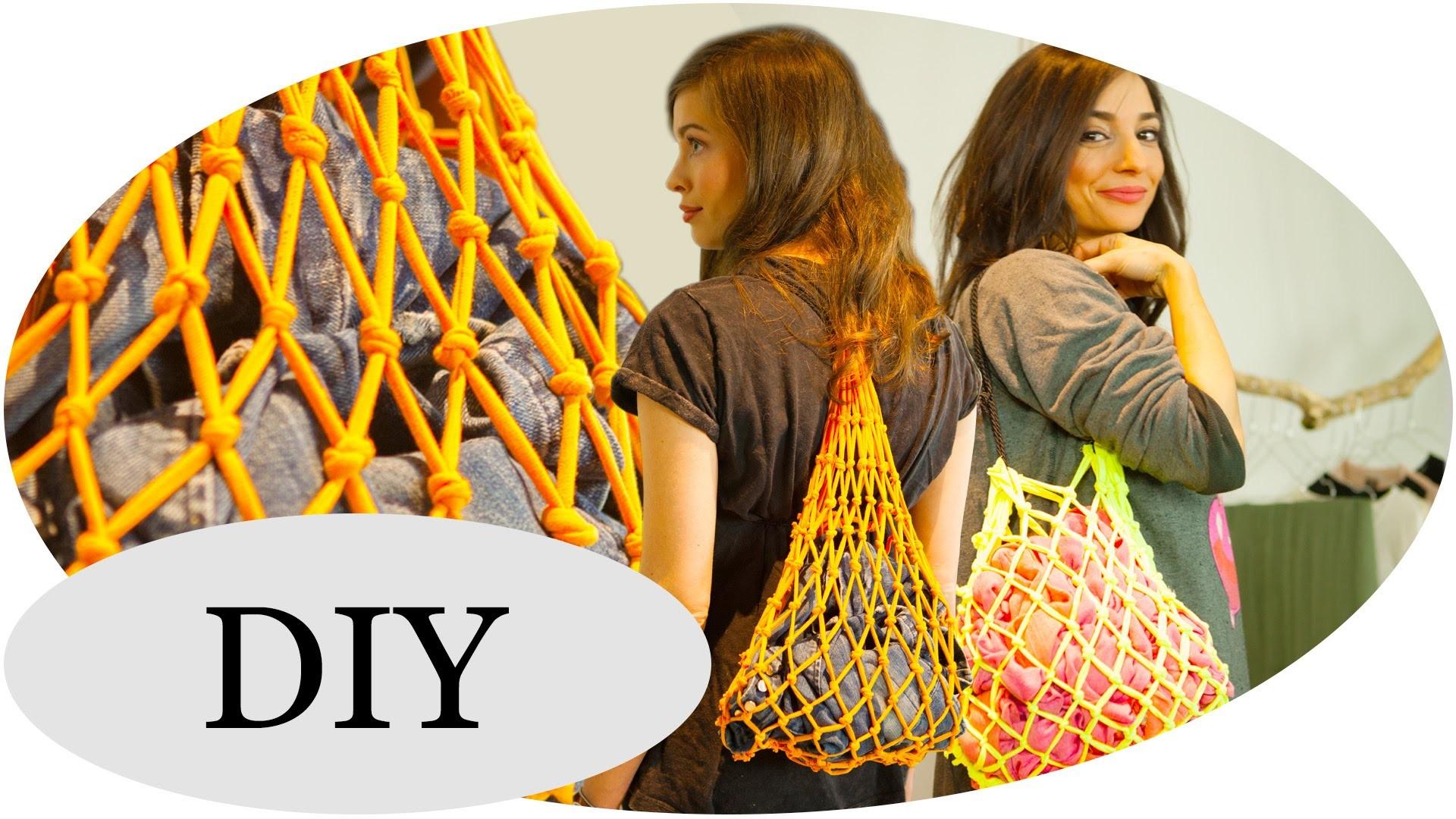 UPCYCLING-Ideen: T-Shirt Bag DIY. Netz-Turnbeutel mit Kim Lianne Pt.2