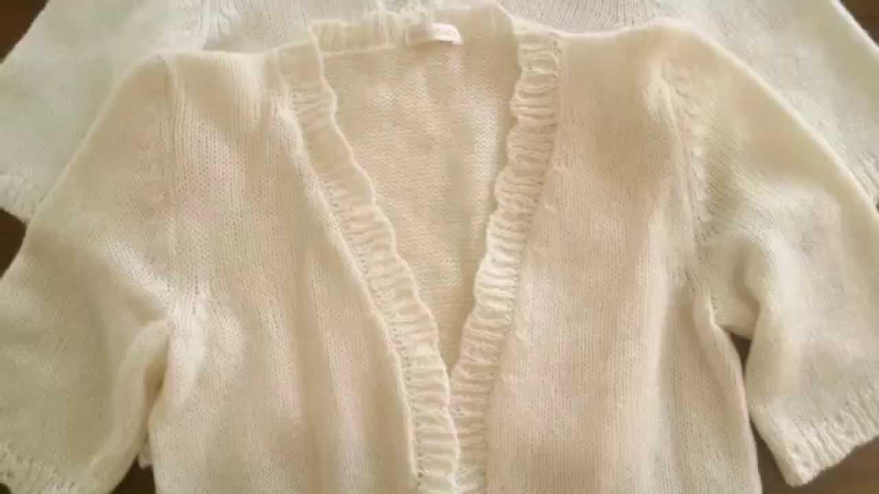 Bolero Jacke für die Braut in weiß und ivory
