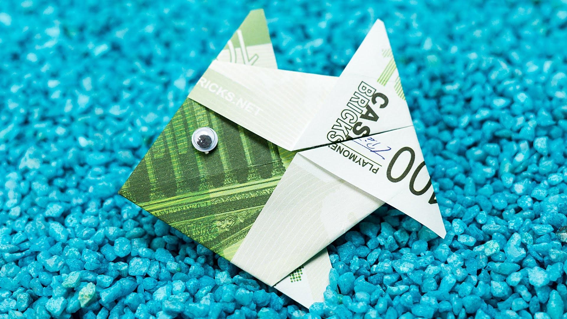 Fisch falten aus Geldschein