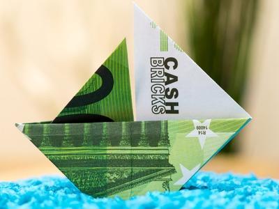 Geldschein falten Segelboot ⛵ Origami Anleitung Deutsch
