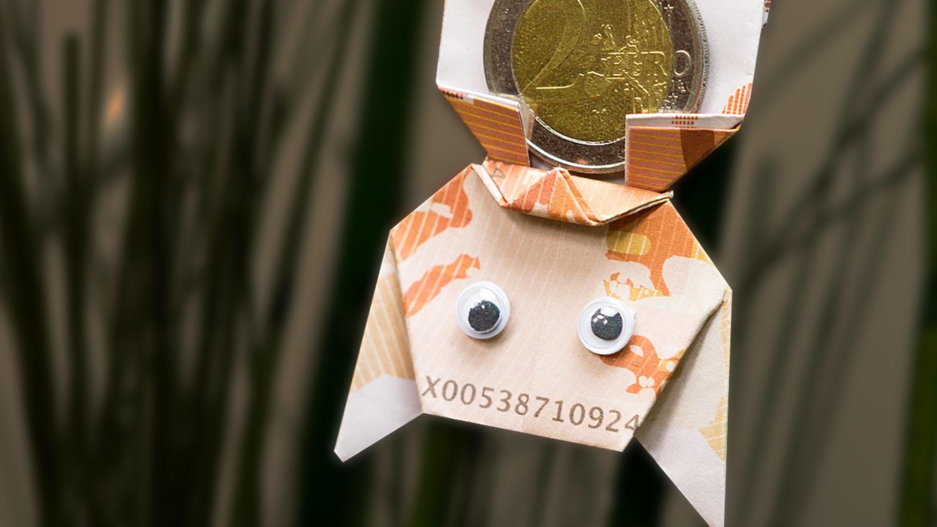 Kreative Geschenkidee - Origami Fledermaus aus Geld