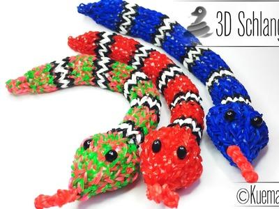 Rainbow Loom 3D Schlange - 3D Snake ( ENG SUB)