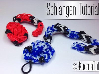Rainbow Loom Klapperschlangen | German Tutorial
