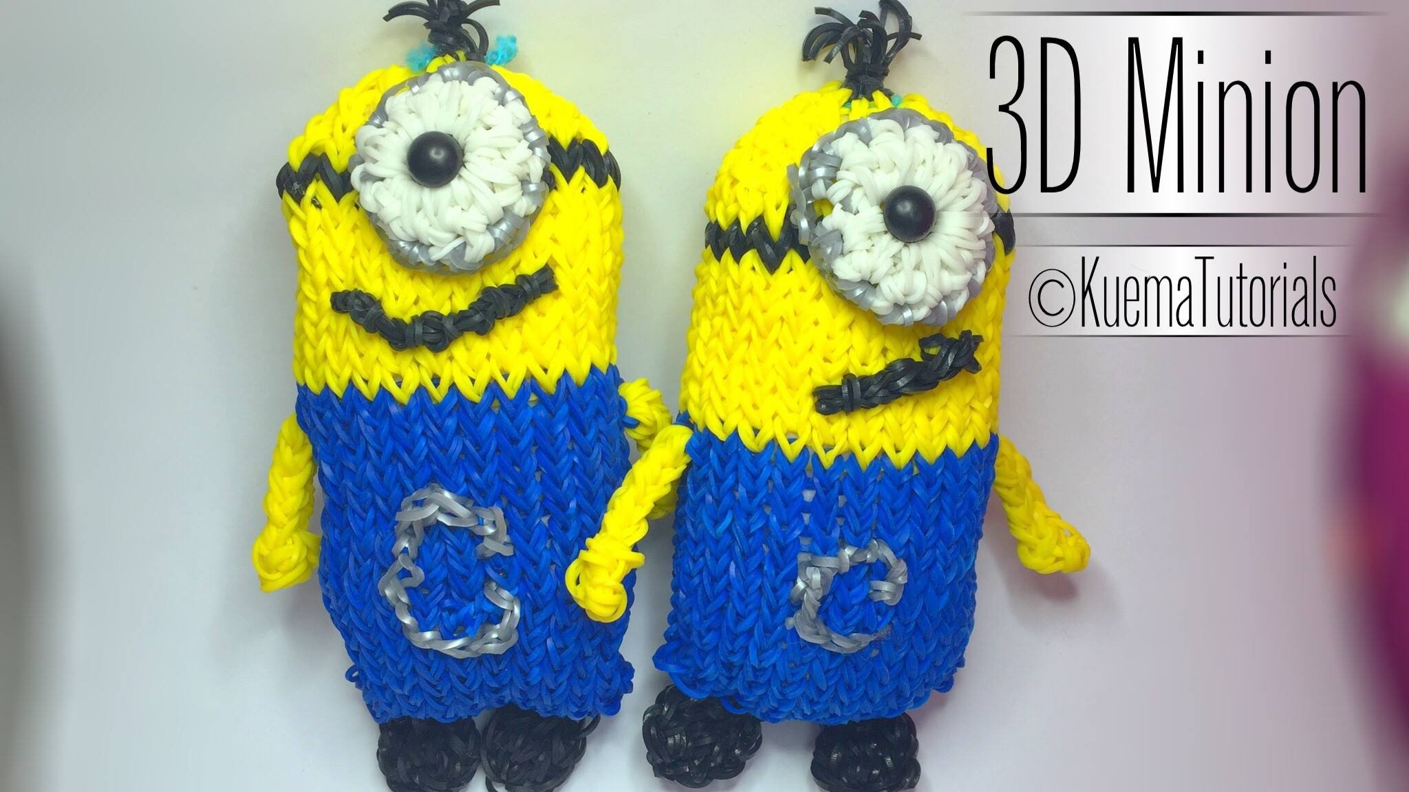 Rainbow Loom grosses 3D Minion - easy Big 3D Minion ( ENG SUB)