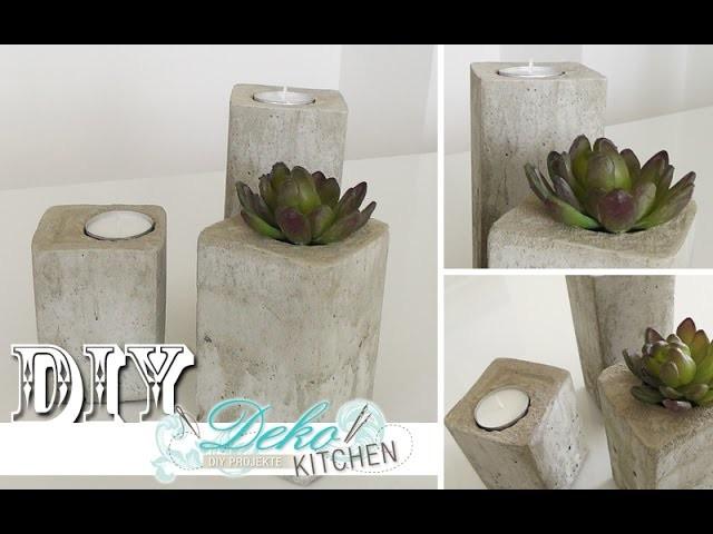 DIY: Stylische Deko-Kerzenleuchter aus Beton einfach selber machen | Deko Kitchen