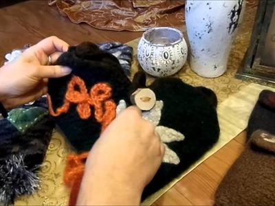 Keka # Neue Video Ideen zum Stricken und Filzen,Mittelalter-Gürteltasche,Talerbeutel,.  Part 01