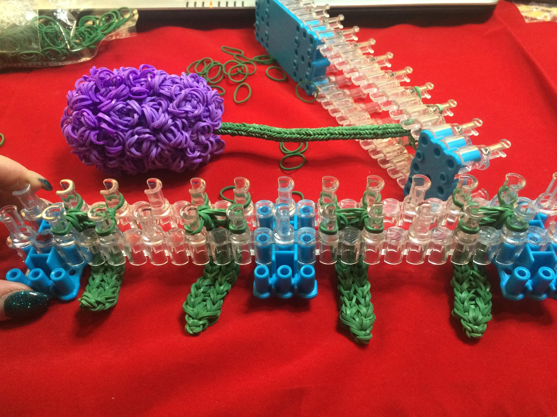 Meine Rainbow Loom 3D Hyazinthe - von Lachtäubchen