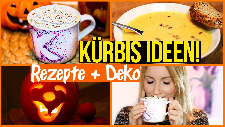 DIY STARBUCKS Pumpkin Spice Latte, KÜRBISSUPPE & Halloween Laterne
