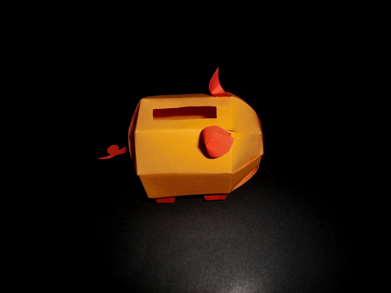 Sparschwein aus Papier: Paper Piggy Bank - Tutorial [HD.deutsch]