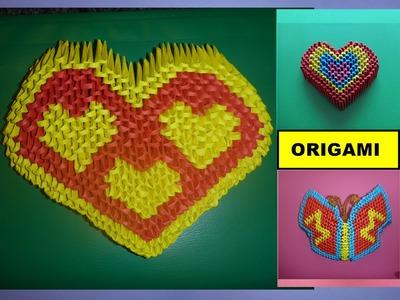 DIY Origami 3D Herz, Basteln mit Papier,  Mother´s day Gift Ideas Heart Tutorial Anleitung