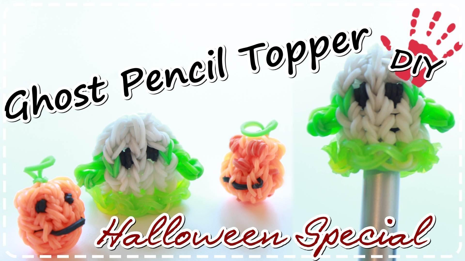 Halloween DIY | Rainbow Loom Charms GHOST | Pencil Topper