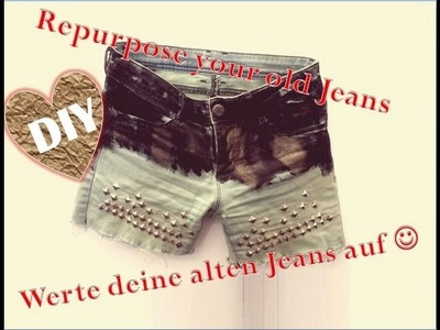 DIY: Vintage cut-off shorts! DIY batik shorts! Revamp your old jeans! Alte Jeans aufpeppen!
