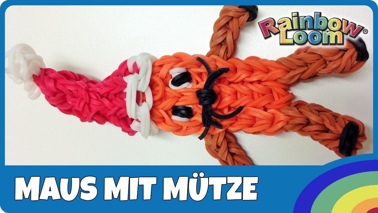 Rainbow Loom Maus mit Mütze - deutsche Anleitung