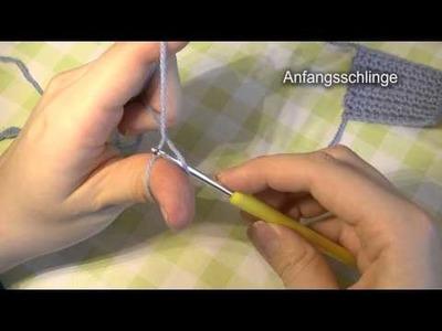 Häkeln lernen, Grundtechniken, Video 1: Anfangsschlinge