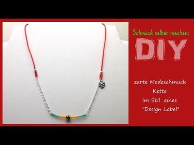 Schmuck selber machen: Kette im Design Label Stil [DIY]