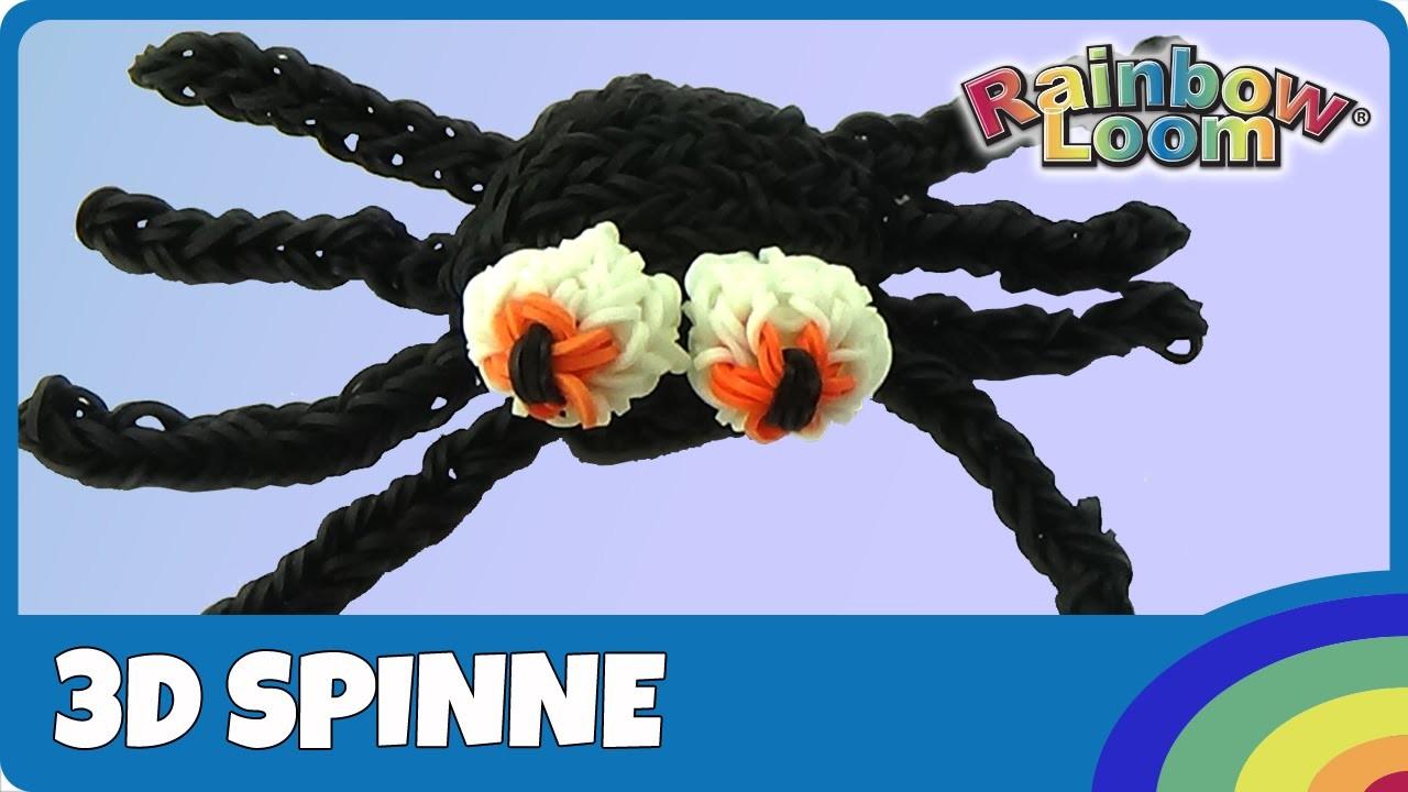 #CreepyHollow Rainbow Loom 3D Spinne für Halloween - deutsche Anleitung