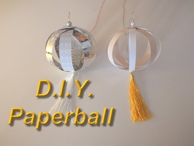 *** D.I.Y. Paperball Bastel-Anleitung. Tutorial-mit Tini ***