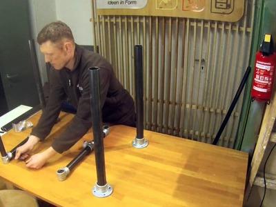 Tutorial: Verstellbarer Stehtisch, eigenbau DIY Standing Desk