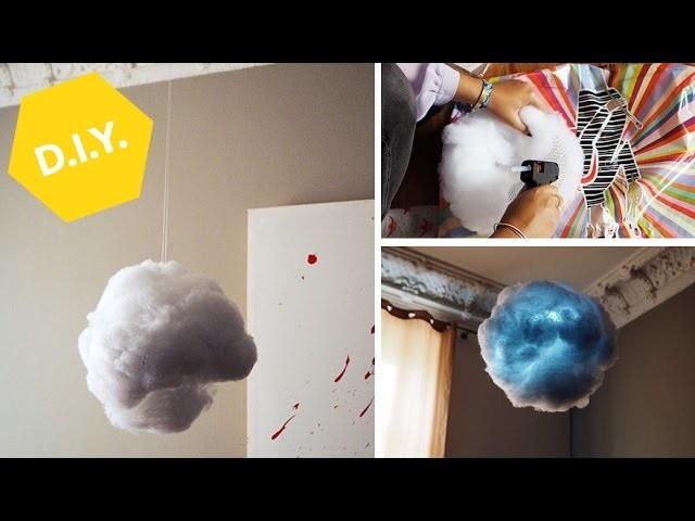 Flauschige Installation: DIY Wolke
