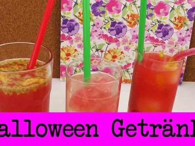 DIY Halloween Getränke | 3 Ideen für gruselige Getränke für eure Party | Eiswürfel & Würmer