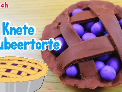 German DIY Einfach Handwerk: How To Play Doh Blueberry Pie | Knete Blaubeertorte