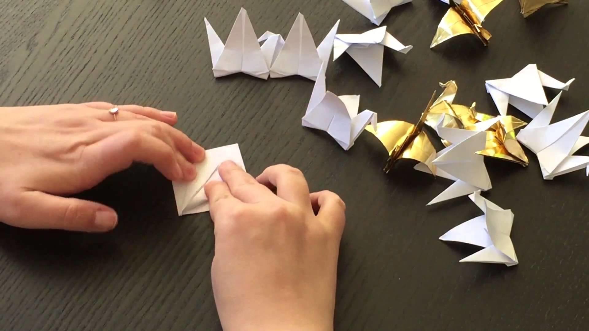 DIY Origami Kraniche Hochzeit Paper Cranes