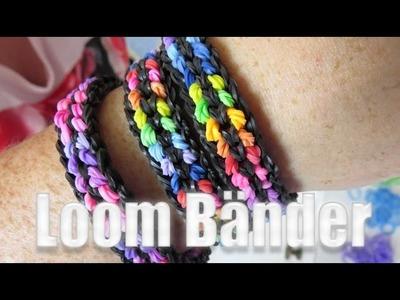 Rainbow Loom double capped bracelet (Anleitung)