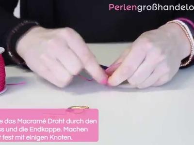 DIY: Armband mit Macramé Stich und DQ Verschluss