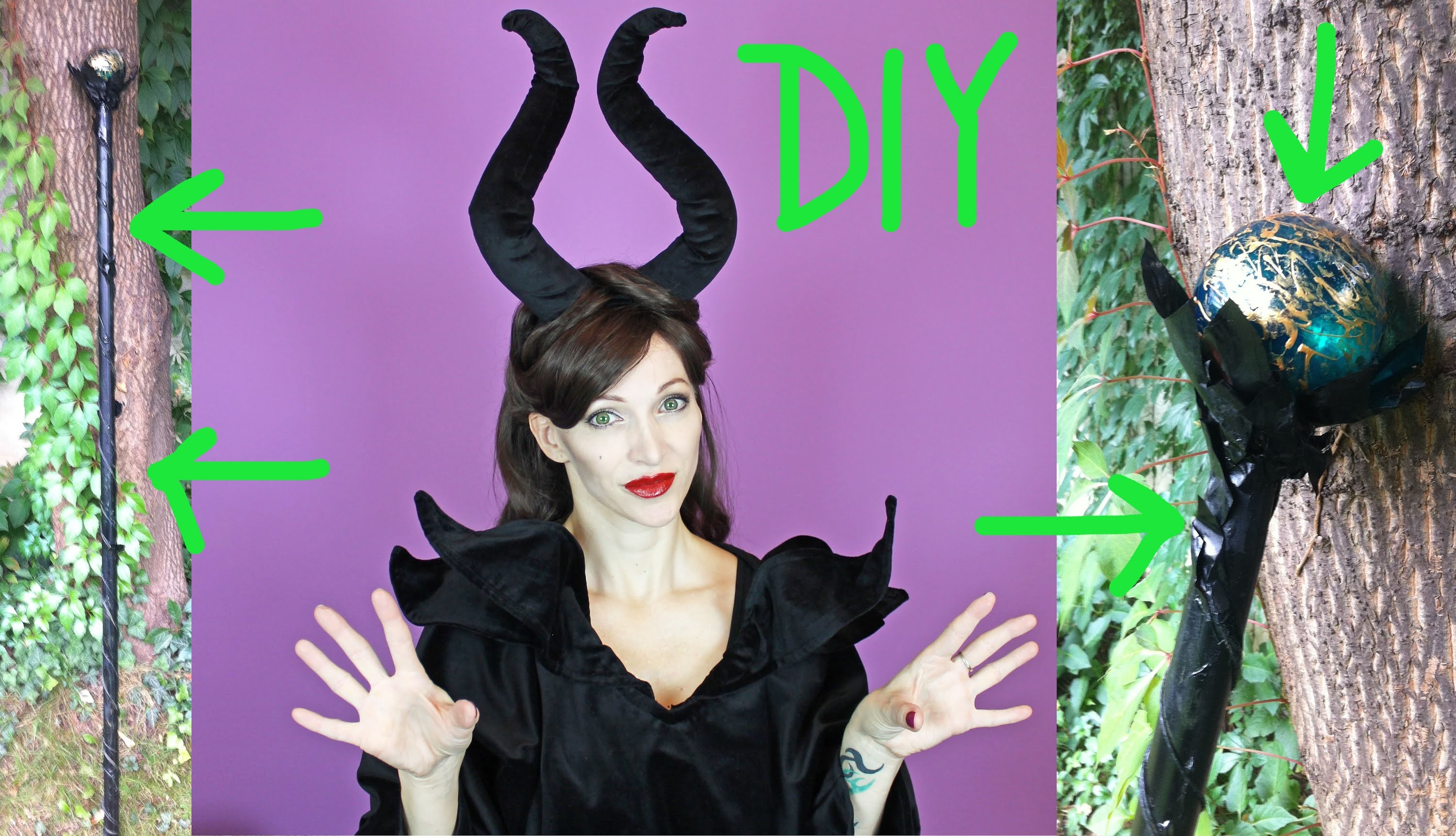 DIY Maleficent Stab - Halloween 2015 #4