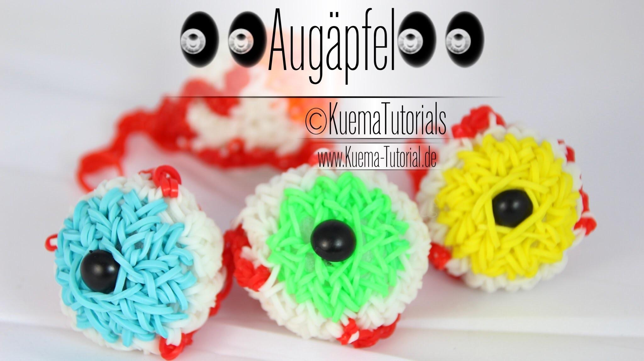 Rainbow Loom - Halloween - Augäpfel. eyeballs ( ENG SUB)