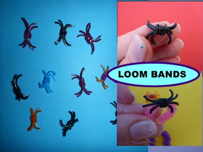 DIY Loom Bands HALLOWEEN, Spinne, Spider, SCHNELL und EINFACH, easy and cheap decor