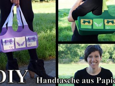Papierhandtasche (Shopper) - Bastelanleitung