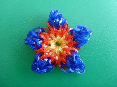 DIY Loom Bands Rainbow Blume, Flower Geschenk zum Muttertag, deutsche Anleitung