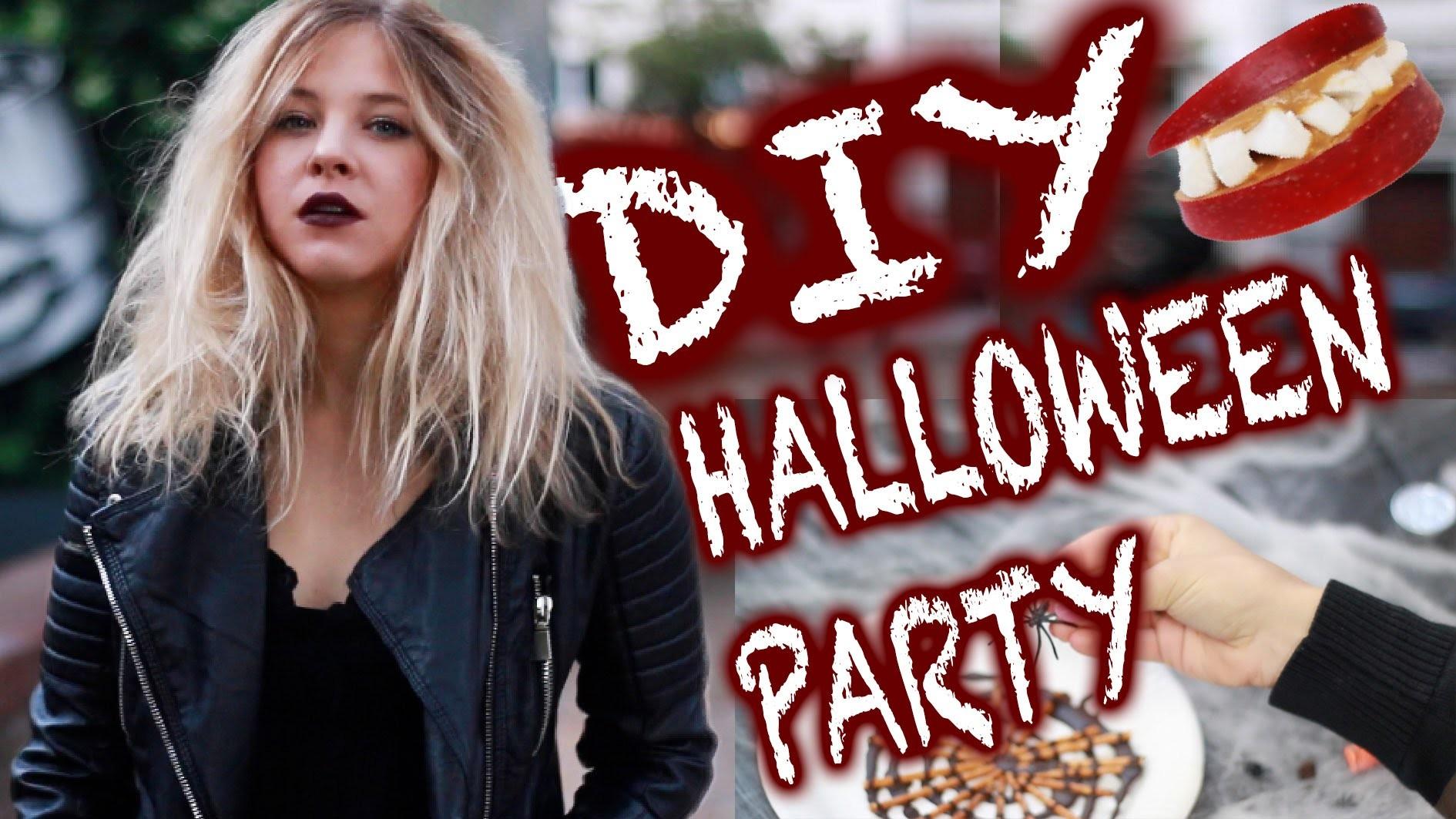HALLOWEEN PARTY DIY I GRUSELIGE SNACKS, DEKO + LAST MINUTE COSTUME