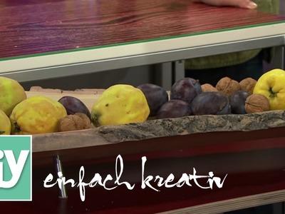 Holzschale für Herbstfrüchte | DIY einfach kreativ