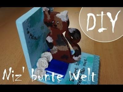 Buchstütze! *Miau* ~ (DIY.Tutorial)