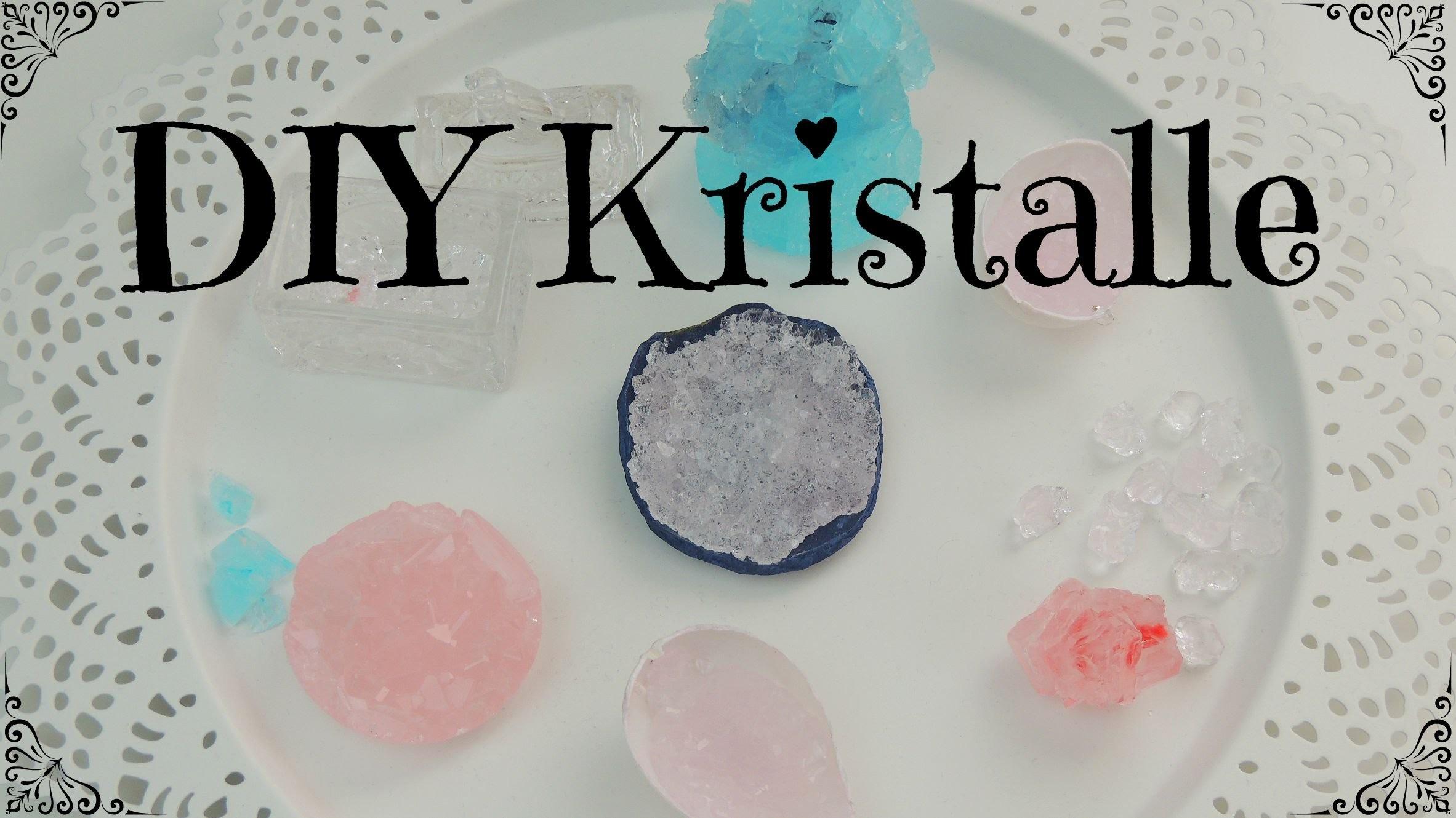 DIY Kristalle mit Alaunpulver