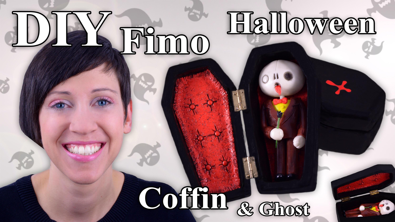 FIMO Sarg: Polymer Clay Halloween Coffin - Tutorial [HD.DE] (EN-Sub)