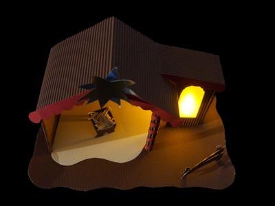 Krippe aus Papier: Weihnachtsmotiv - Bastelanleitung