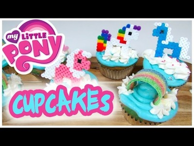 My Little PONY Cupcakes + My Little Pony Perler Beads DiY