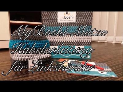 MyBoshi Mütze Häkelanleitung für Anfänger Linkshänder
