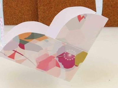 DIY Aufbewahrung - Süßes Herzchen aus Pappe - Herzkörbchen für Bastelsachen und Spielzeug