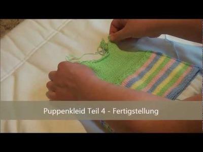 Puppenkleider stricken - Teil 4 - Fertigstellen