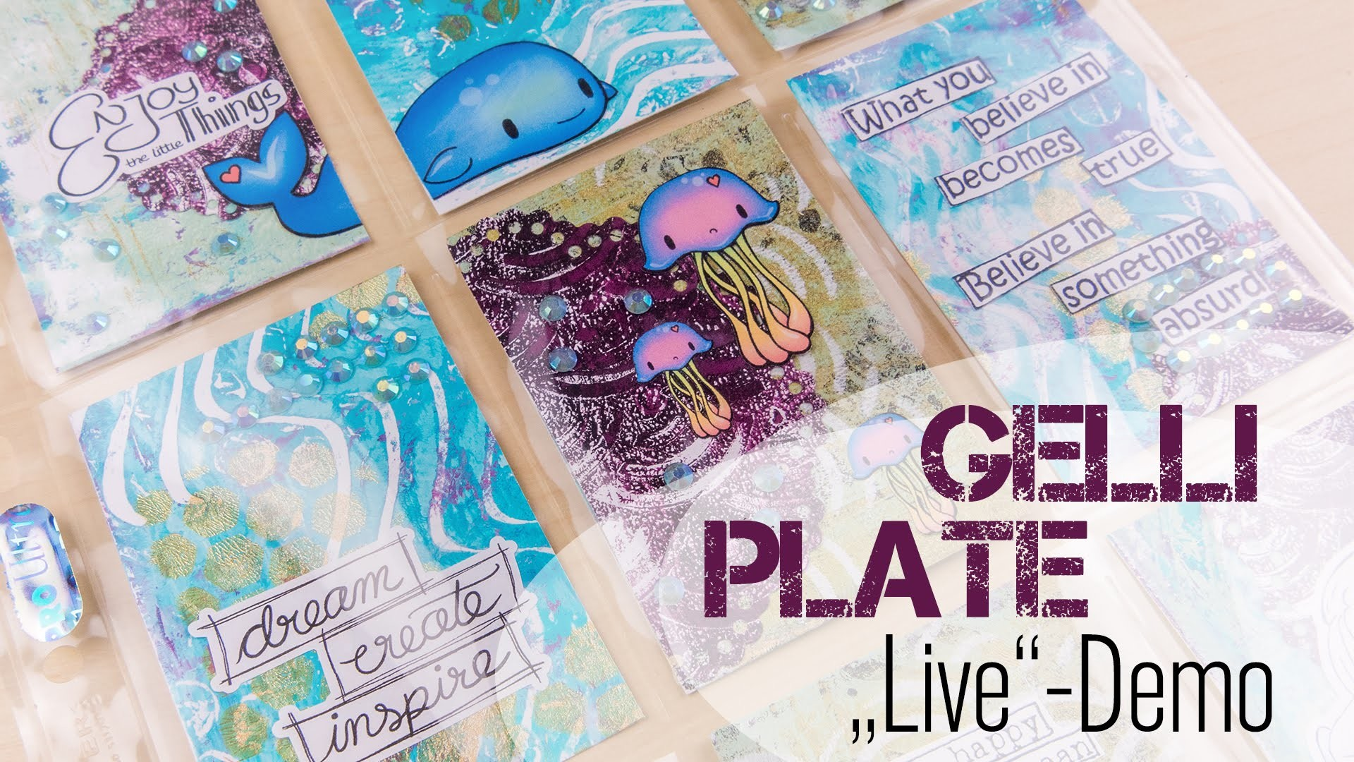 [VLOG | Let's Craft] Gelli Plate + Pocket Letter in #Überlänge | DEUTSCH