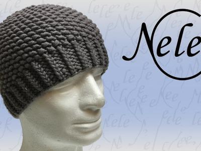 Mütze stricken - Strickmütze für Anfänger im Perlmuster - DIY Anleitung by Nele C.