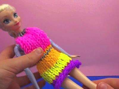Prinzessin Elsa bekommt ein Loom Band Kleid von Eva! Rainbow Loom Dress Loom bandz kleid