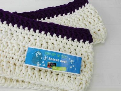 Schal häkeln Loop für Anfänger - Loop Schal mit festen Maschen und Stäbchen