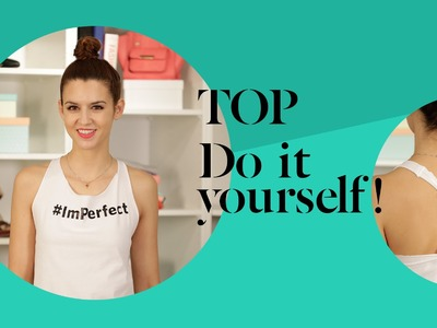 DIY T-Shirt mit Wickeldetail » Tanktop zum Sport und für die Party  | Stylight